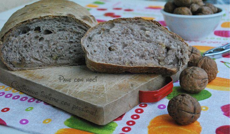 Pane con le noci con lievito madre