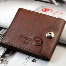Designer de moda 90% couro carteira de café ferrolho sólidos bolsa homens(China (Mainland))