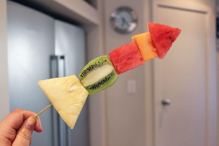 fruit rocket ship, edible kids crafts, fruit for kids, healthy eating, fun food ideas - Fruit Rocket Ship