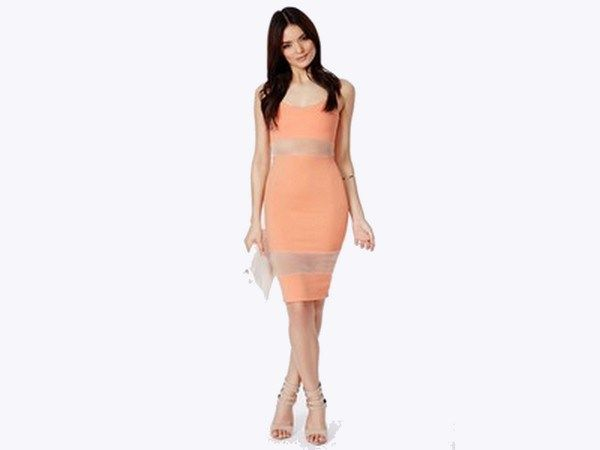 Enormous Peach Panel Frock