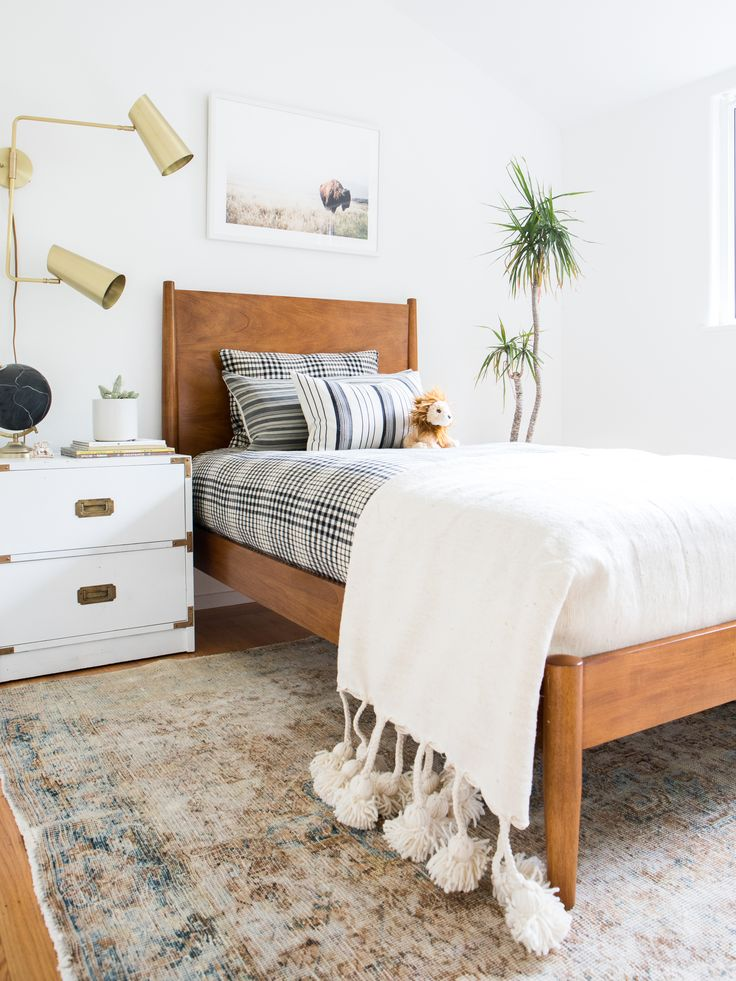 California eclectic neutral Big boy room