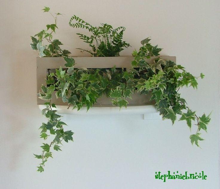 Faire soi-même un cadre végétal récup ...  - DIY - How to make a wall plant holder