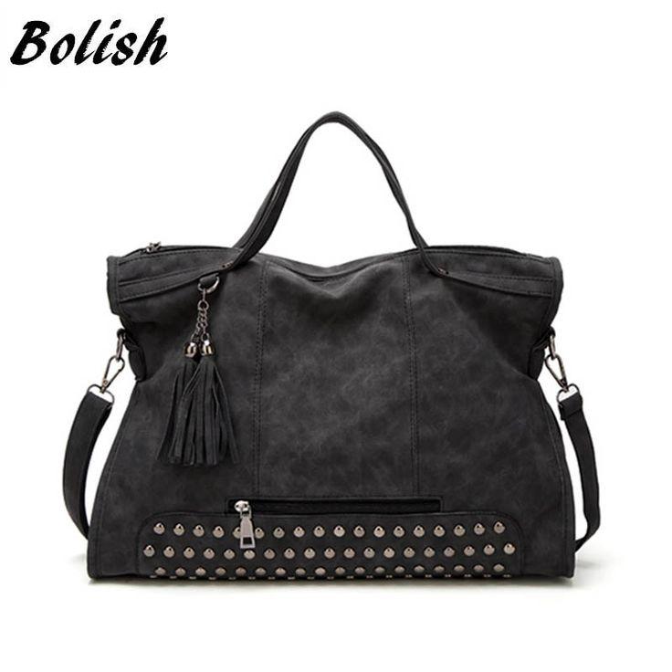 Bolish Drop shipping Bolsa Feminina Mujer High Capacity Tassel Crossbody Bag Lady All-Purpose Style Bolso de compras diario