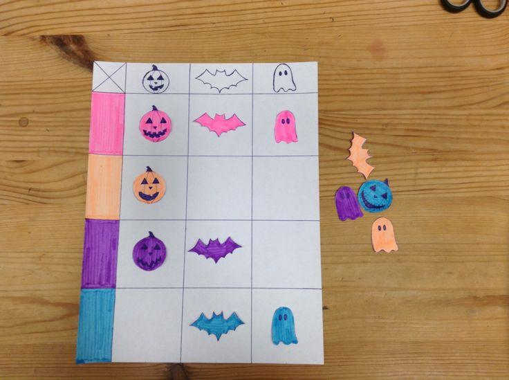 Maths for kids. Début des mathématiques pour enfants d'âge préscolaire sous le theme de l'halloween