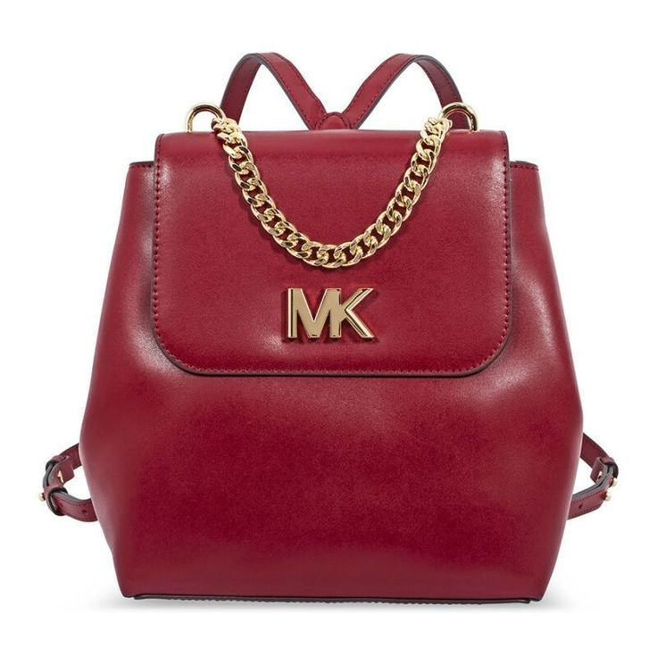 b42834212c9c US $121.99-Michael Kors Mott Leather Backpack- Maroon 30F8GOXB2L-550 | Michael  Kors Handbags | Pinterest | Leather Backpack, Backpacks and Handbags michael  ...