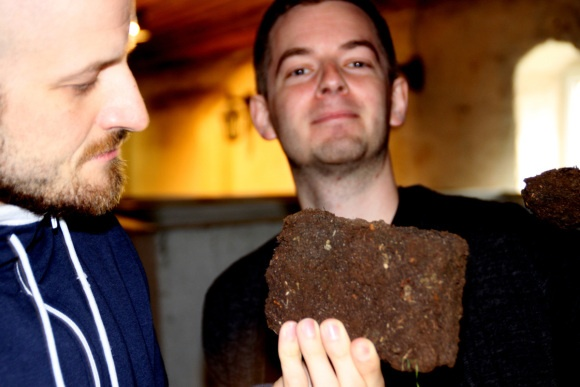 Peat  http://whisser.com/2013/01/21/stauning-peated-1st-edition-at-the-distillery/