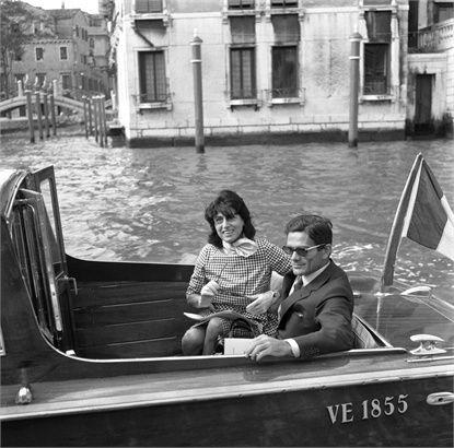 Anna Magnani and Pier Paolo Pasolini in Venice