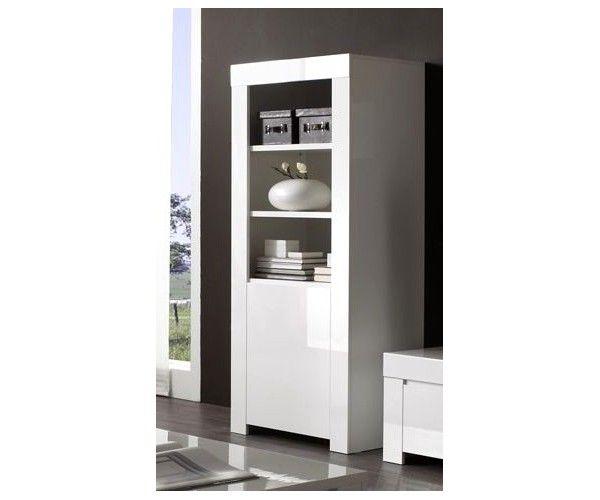 Meuble colonne blanc - meuble-et-canape.com - Colonne blanche #meublesalon