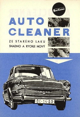 Skoda car product advertising, Czechoslovakia