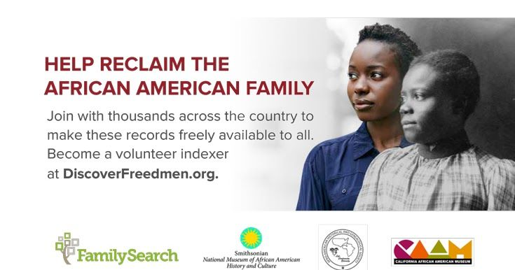 """The FamilySearch.org Blog has a post by Thom Reed entitled, """" Breaking Through the 1879 Brick Wall: The Significance of the Freedmen's Bure..."""