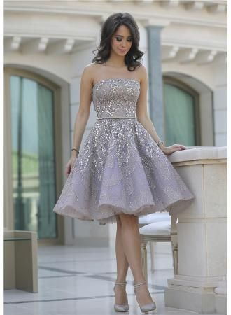 USD$149.00 - Glamorous Strapless Sleeveless Short Homecoming Dress With Sequines - www.27dress.com