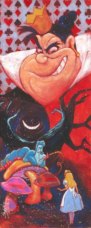 """""""Wicked Heart"""" by Stephen Fishwick   Disney Fine Art   Disney's Alice in Wonderland"""