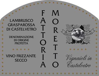 Fattoria Moretto Lambrusco. Imported by Kermit Lynch Wine Merchant. Dry, astringent, mineral. Yum.