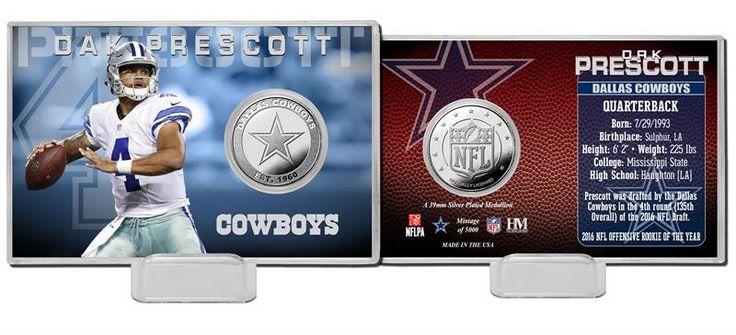 Dallas Cowboys Da... http://www.757sc.com/products/dallas-cowboys-dak-prescott-silver-mint-coin-card-limited-edition-of-5000?utm_campaign=social_autopilot&utm_source=pin&utm_medium=pin #nfl #mlb #nba #nhl #ncaaa #757sc