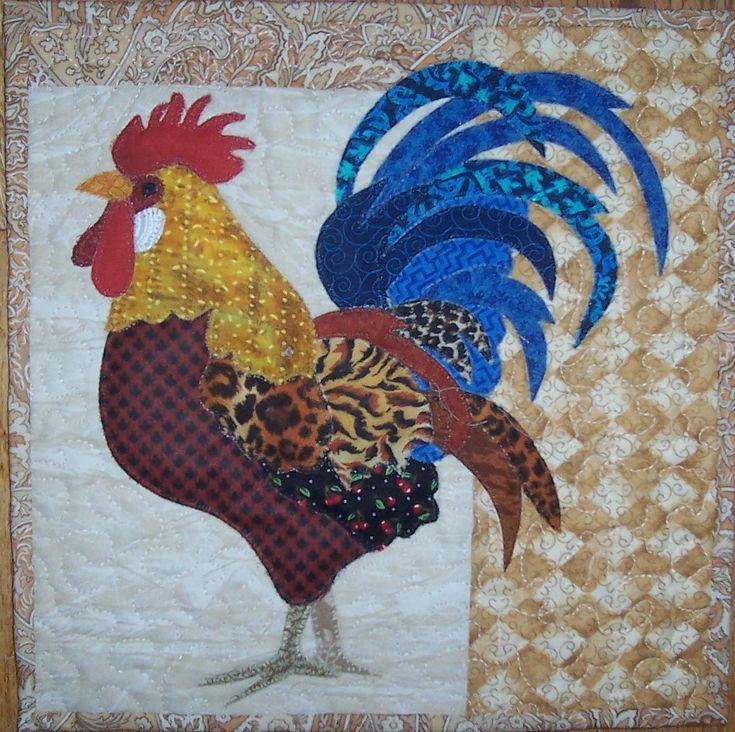 Rooster Applique mini quilt