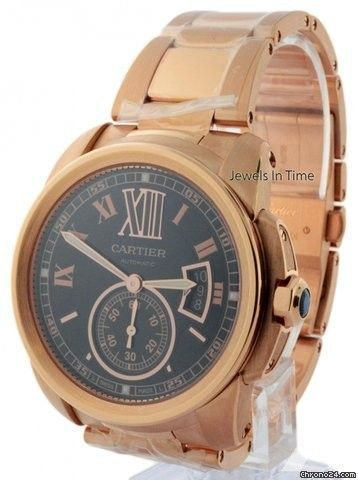 Cartier Calibre 3300 18k Rose Gold Mens Watch Box/Papers W7100040 NEW