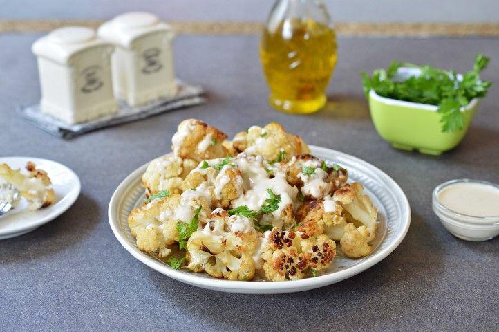 מתכון קל להכנה וטעים: כרובית בטחינה אפויה בתנור   מצרכים:  כרובית בינונית מפורקת לפרחי