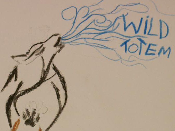 Creating the totem of our class - The wild totem!