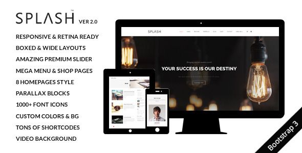 Splash+-+Multi-Purpose+Bootstrap+Website+Template