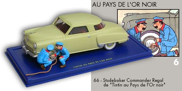 66 - Studebaker Commander Regal - Tintin au Pays de l'Or Noir