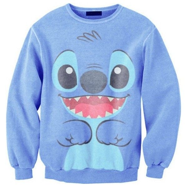 lilo and stitch ❤ liked on Polyvore featuring tops, hoodies, sweatshirts, sweaters, shirts, disney shirts, blue sweatshirt, shirts & tops, disney tops and stitch shirt