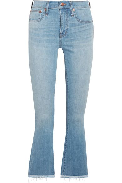 Madewell - Cali Cropped High-rise Bootcut Jeans - Blue