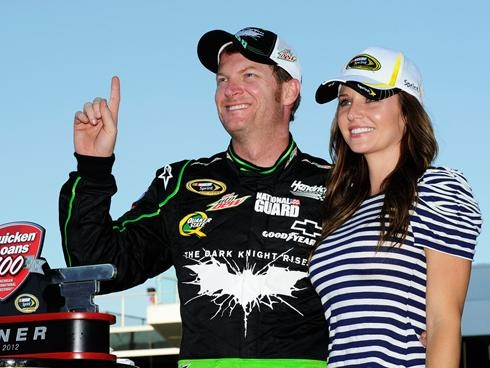 Dale Earnhardt Jr. and girlfriend Amy Reimann (June 17, 2012)
