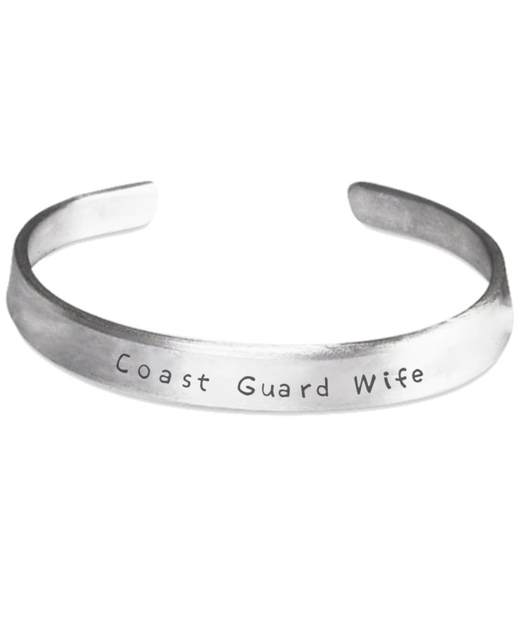 Coast Guard Wife - Stamped Bracelet
