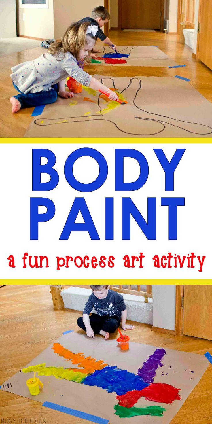 body paint process art art activities for
