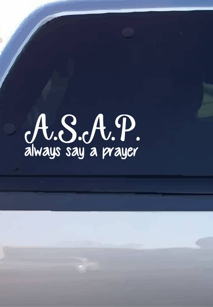Excited to share the latest addition to my #etsy shop: A.S.A.P (Always Say A Prayer) Decal http://etsy.me/2DwZhDe #geekery #computer #accessories #alwayssayaprayer #prayer #religious #window #cardecal #vinyl