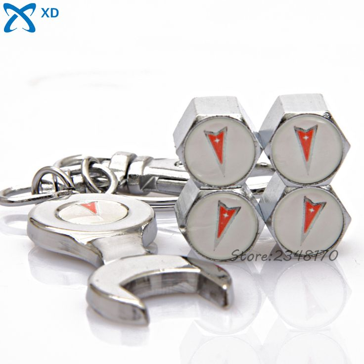 4Pcs/set Car Airtight Cover Stainless Steel Wheel Tire Valve Stems Cap Wrench Keychain For Pontiac Aztek GTO Firebird Sunfire #Affiliate