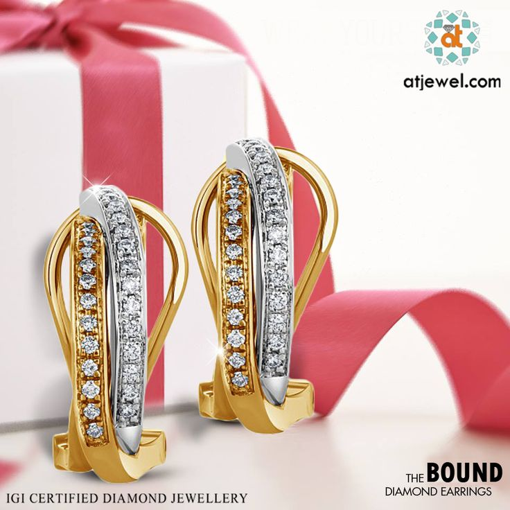 Design Of The Day.... Gift yourself Earrings of Two-Tone.Shop Trending Earrings at Best Prize.Be With ATJewel.Shop Now #ATJewel #Diamonds #Earrings #Gold #TwoTone  http://bit.ly/2fk5vpv