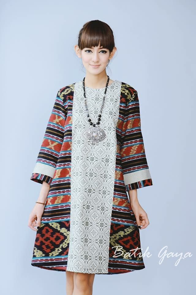 Style dress batik elegan