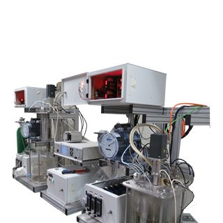 Bioreactors according to the customer needs as well as standart configurations are available Reactions under aerobic or anaerobic conditions can be studied in our bioreaction systems. Online gas analyzers may be integrated into the system for the desired gas parameters.
