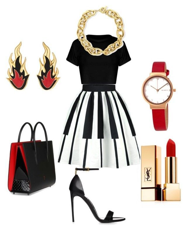 """Favor Isn't Fair"" by latoya-lynette-futrell on Polyvore featuring Christian Louboutin, Yves Saint Laurent, AMBUSH, BERRICLE and Skagen"