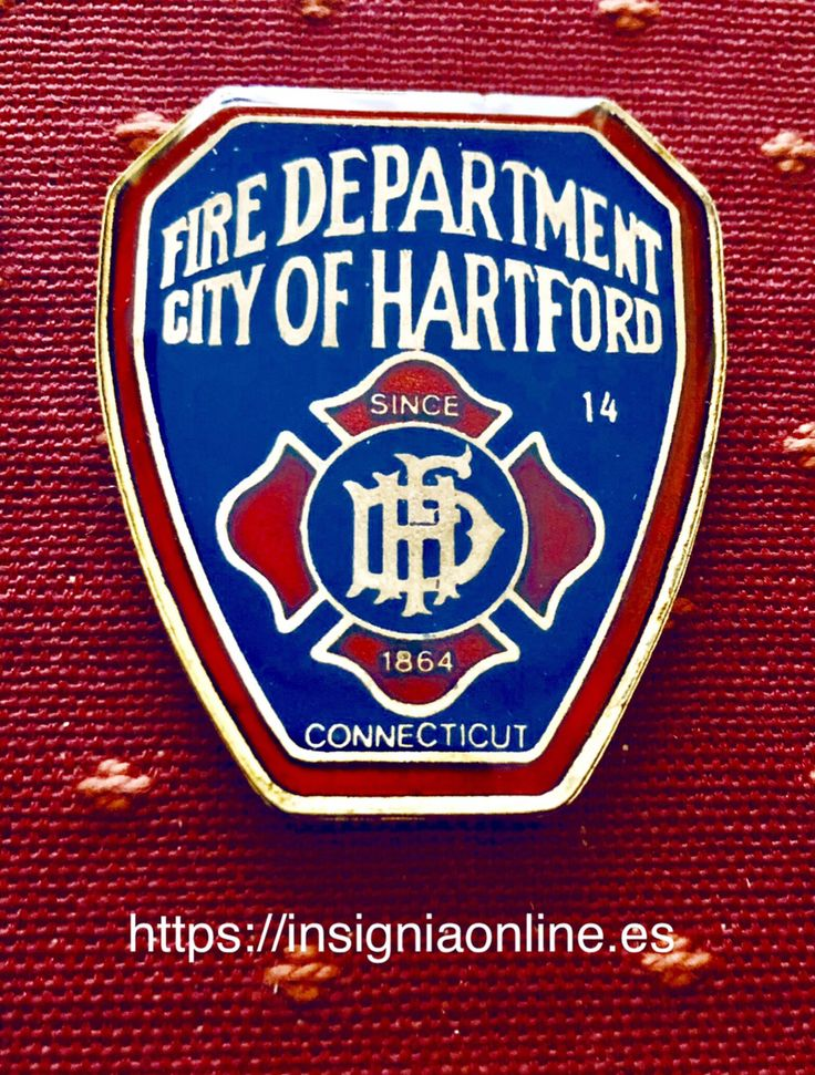Hartford connecticut fire department badge policiales