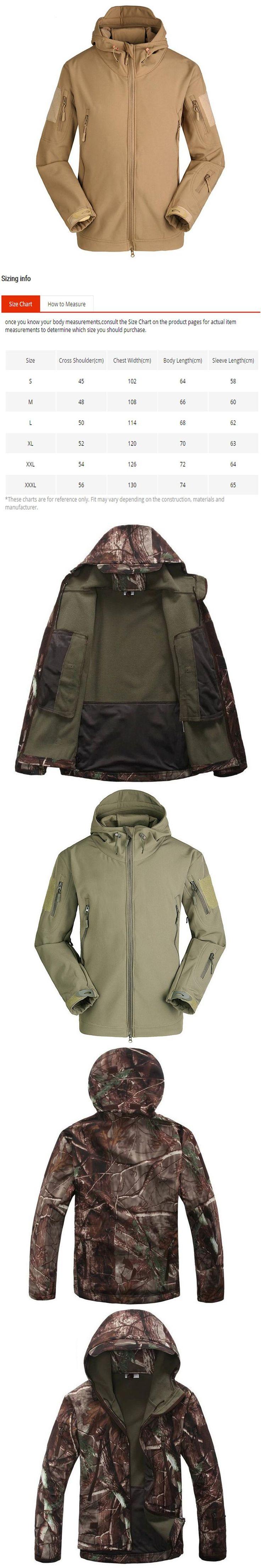 Tactical Jacket Men Lurker Shark Skin Softshell V4 Military Jackets Mens Waterproof Thick Warm Camouflage Coat TAD Camo Raincoat