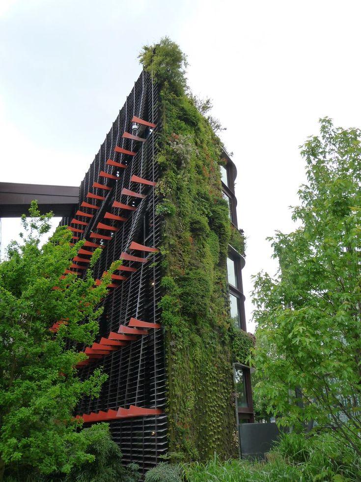 Le mur végétal du Musée du quai Branly a été créé en 2004 par le célèbre botaniste Patrick Blanc.