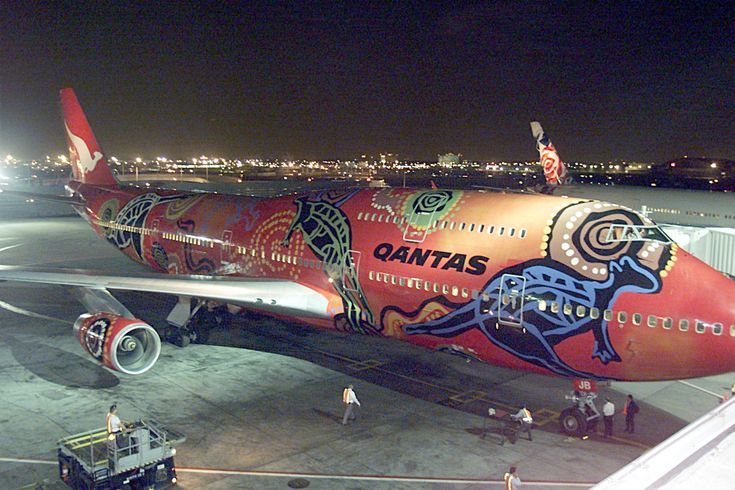 Qantas Aboriginal design.