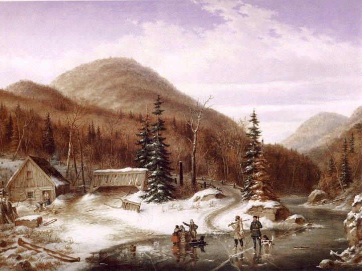 Scène d'hiver dans les Laurentides, 1867