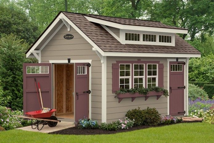 This custom storage shed is specifically designed to meet for Craftsman style storage sheds