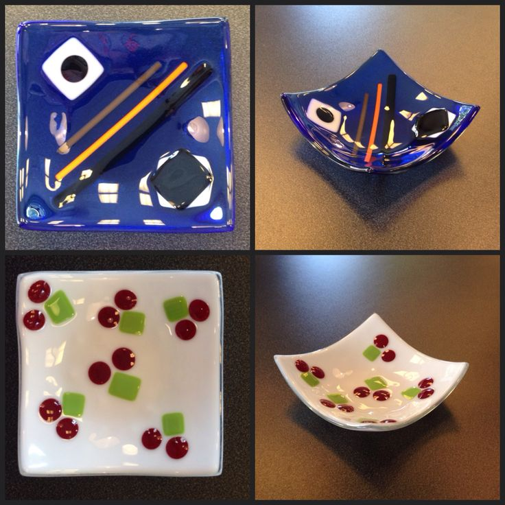 Two of our customers made this! Fused glass bowls.