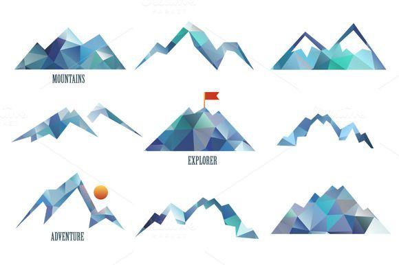 Mountains ~ Logo Templates on Creative Market … More