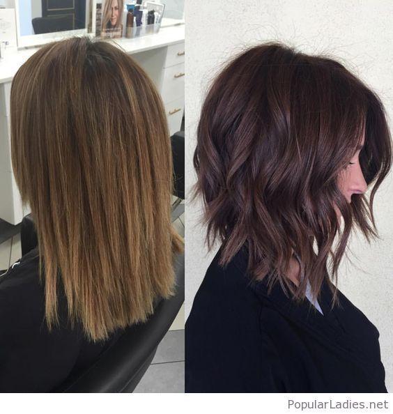 cool amazing-dark-rich-brown-chopped-hair... More