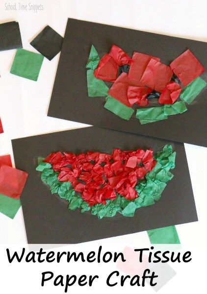 Watermelon Kids Crafts – Summertime Fun
