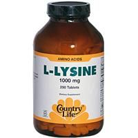 It was suggested to me that this would be good for stopping warts. Country Life, Gluten Free, L-Lysine, 1000 mg, 250 Tablets - iHerb.com