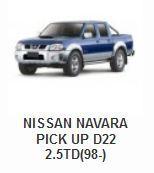Nissan Navara Pick Up D22 2.5TD(98-)