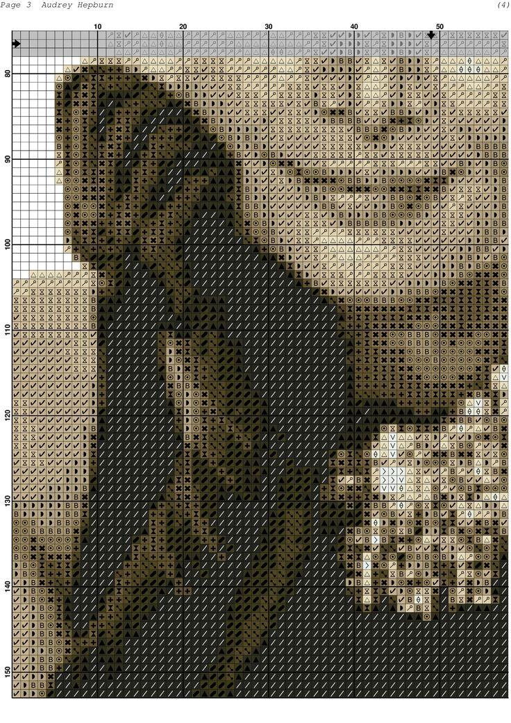 Audrey Hepburn x-stitch 3 of 3