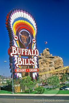 Buffalo Bill's Casino  State Line  Primm, Nevada. Where our car broke down. 7 hours of roller coasters.