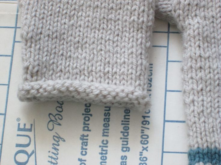 """Rolled Edge Cuff Close Up.  Sweater Based on """"1,2,3, or 4 Pullover"""" by Gail Pfeifle of ROO  DESIGNS.  I Bought the Pattern from Ravelry."""